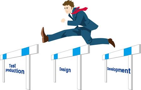 Test production, Design ,Development